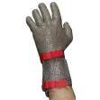 Перчатка кольчужная пятипалая с манжетой, 8 см  (Китай)
