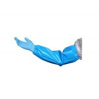 Нарукавник многоразовый 460*220 мм, голубой, 150 мкм