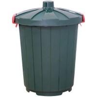 Бак темно-зеленый с крышкой, 105 л