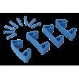Резиновый зажим Vikan 4 шт к настенным креплениям, 120 мм